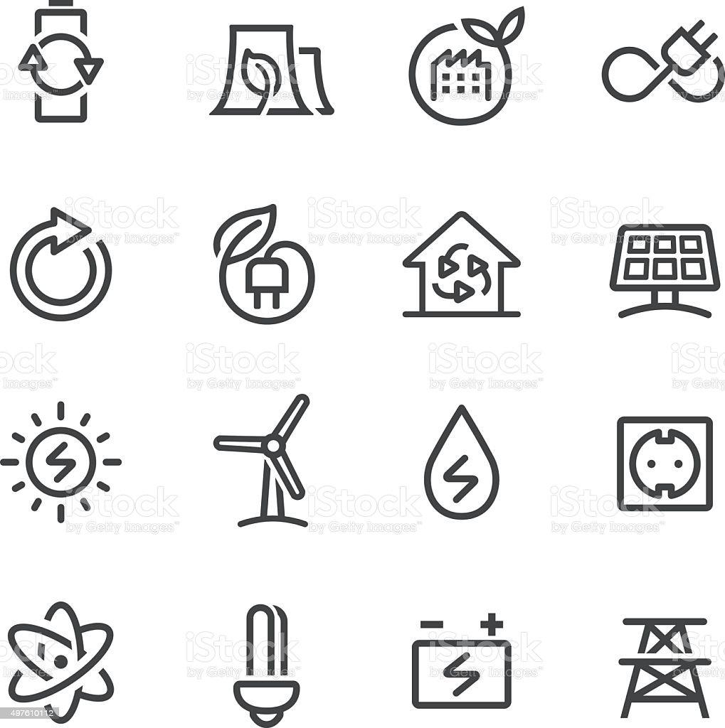 Green Energy Icons - Line Series vector art illustration