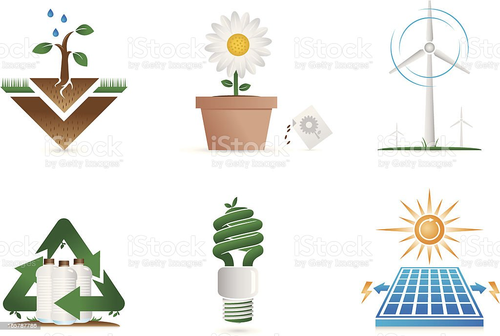Green energy recycle & growth royalty-free stock vector art