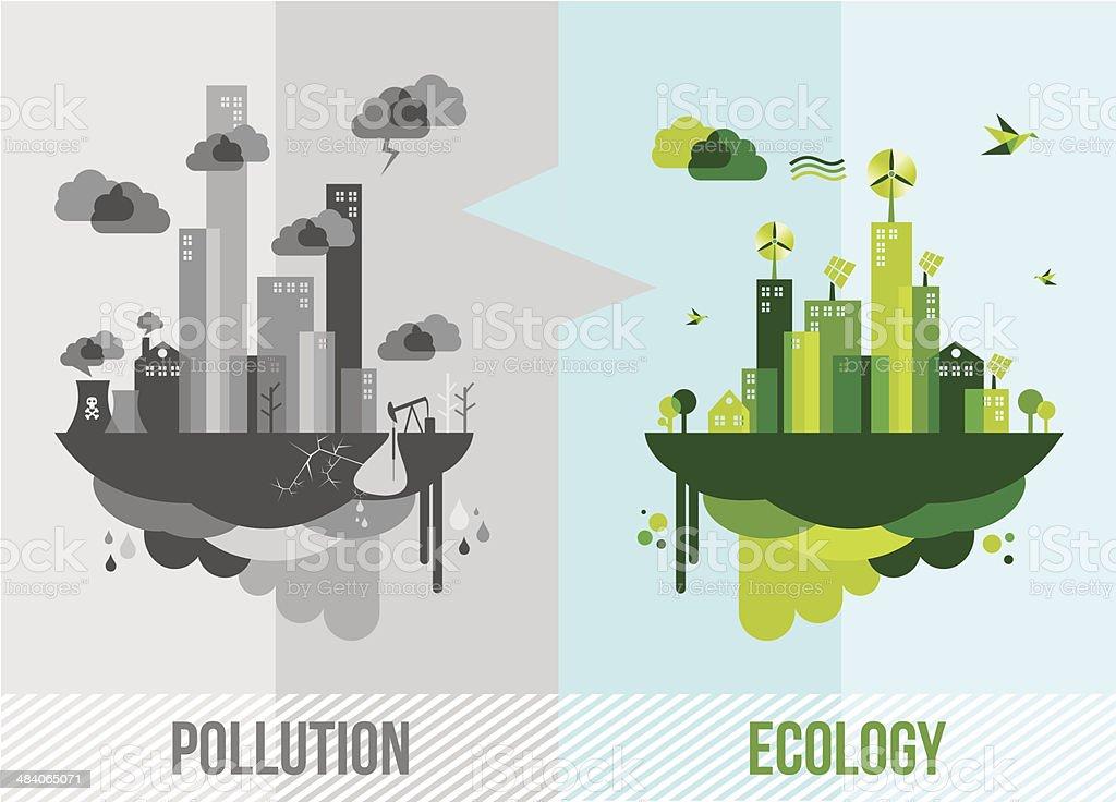 Green environment concept illustration vector art illustration