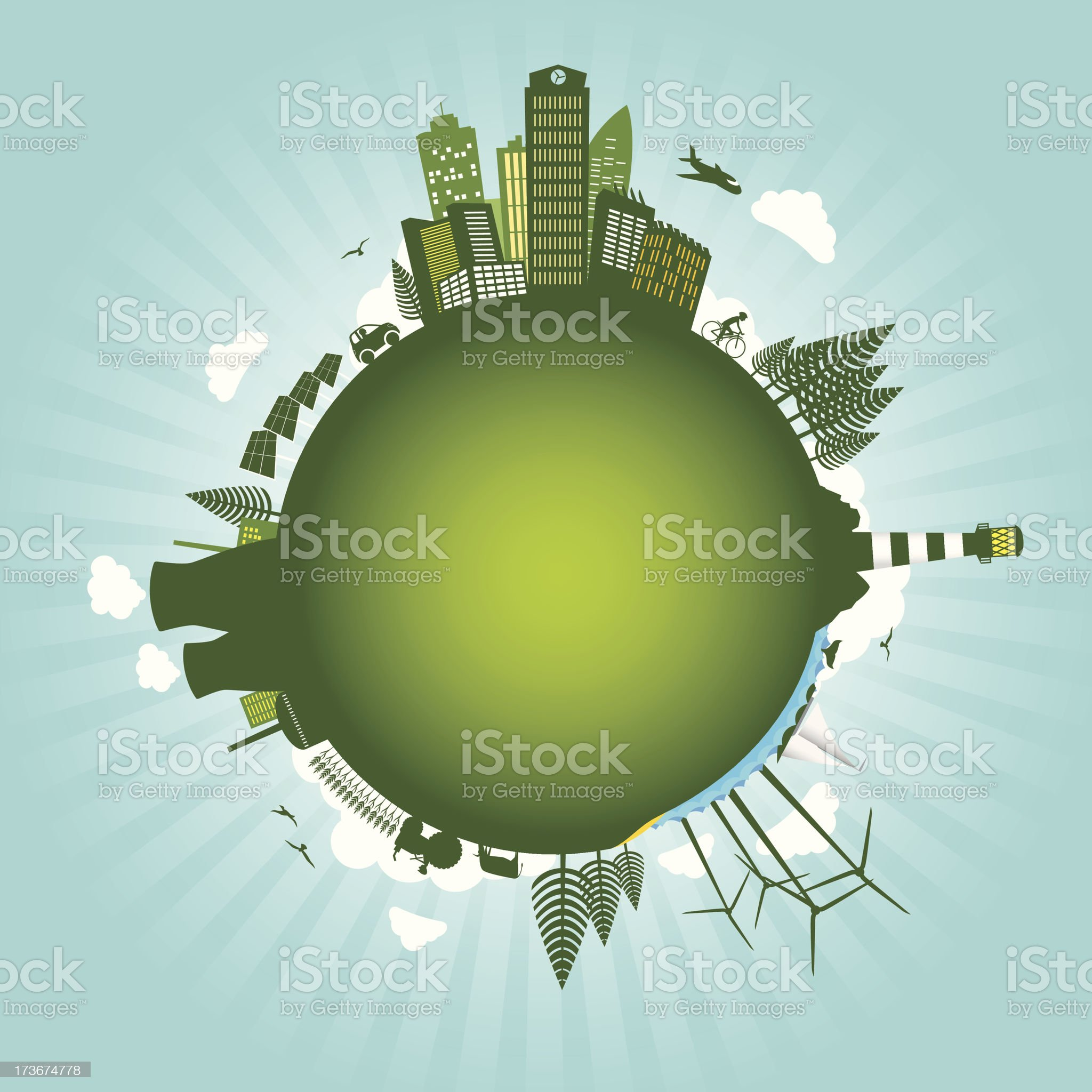 Green environment sustainable energy world concept royalty-free stock vector art