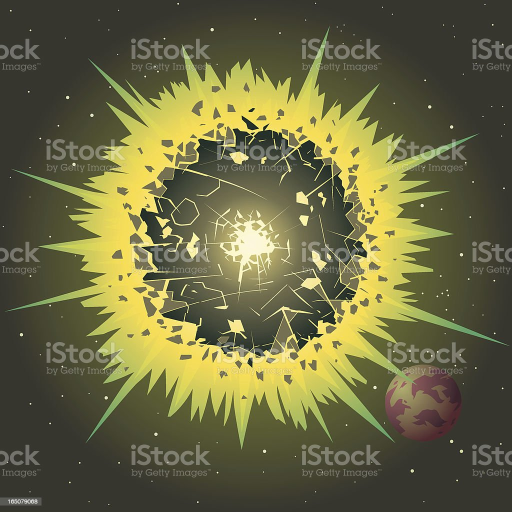 Green Explosion royalty-free stock vector art