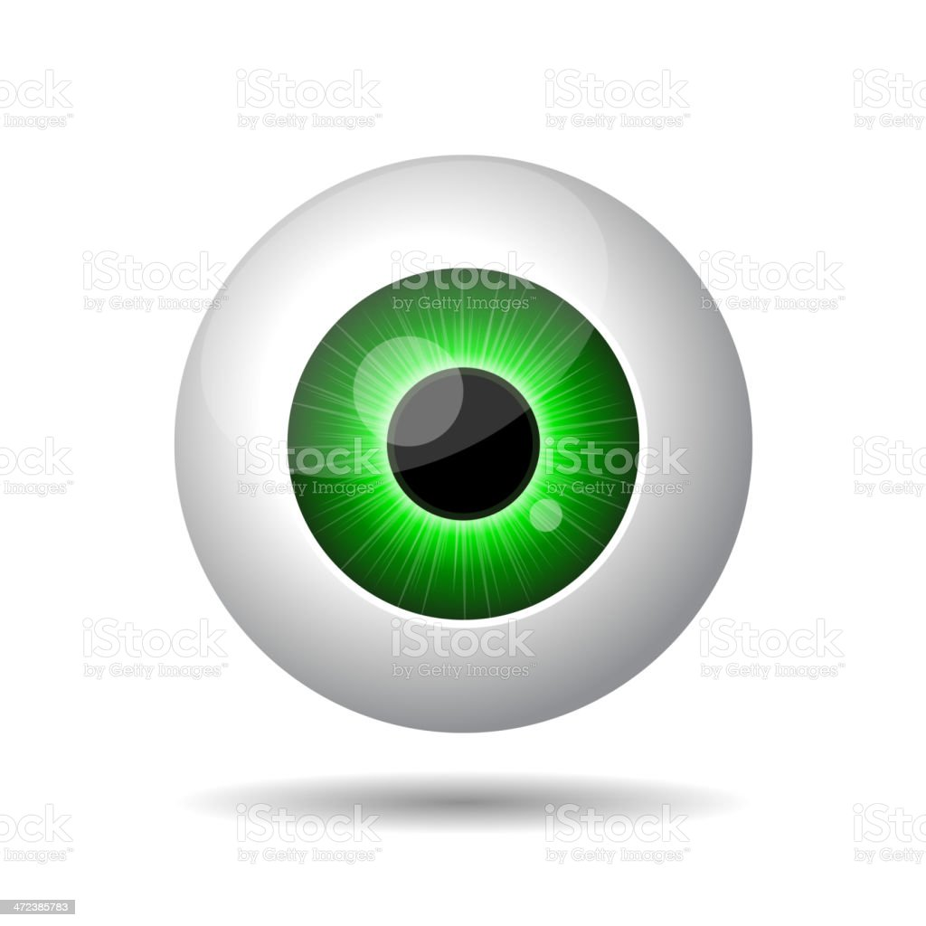 Green Eye on White Background. royalty-free stock vector art