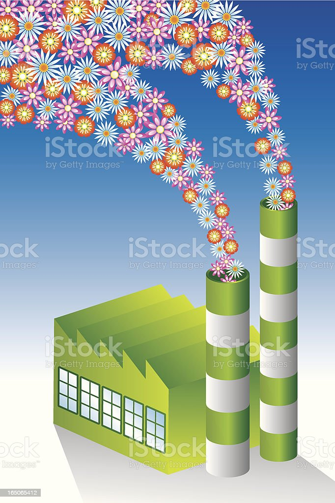 Green factory royalty-free stock vector art