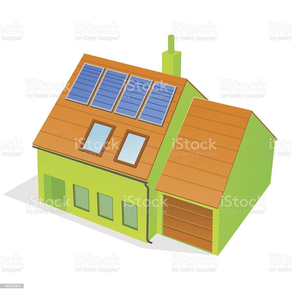 Green Family House royalty-free stock vector art