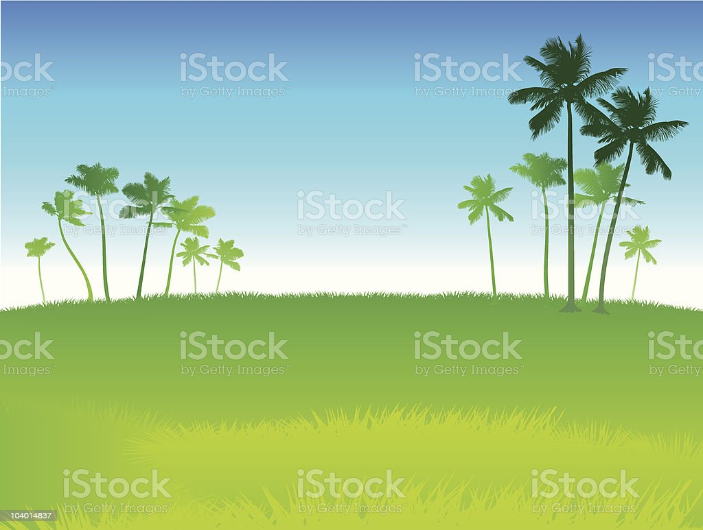 Green field and blue skies internet background royalty-free stock vector art