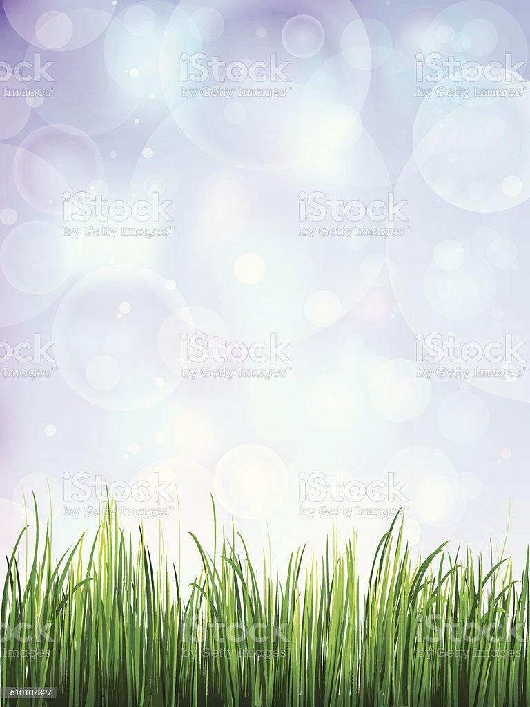 Green Field Background vector art illustration