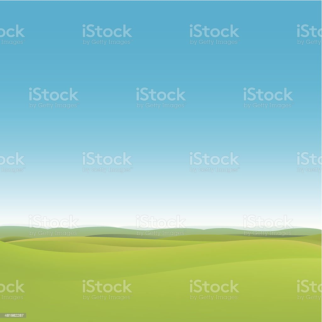 Green fields background royalty-free stock vector art