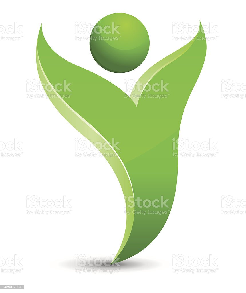 Green figure royalty-free stock vector art