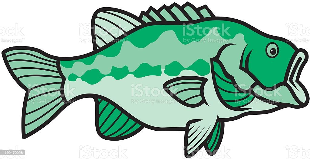 Green fish royalty-free stock vector art
