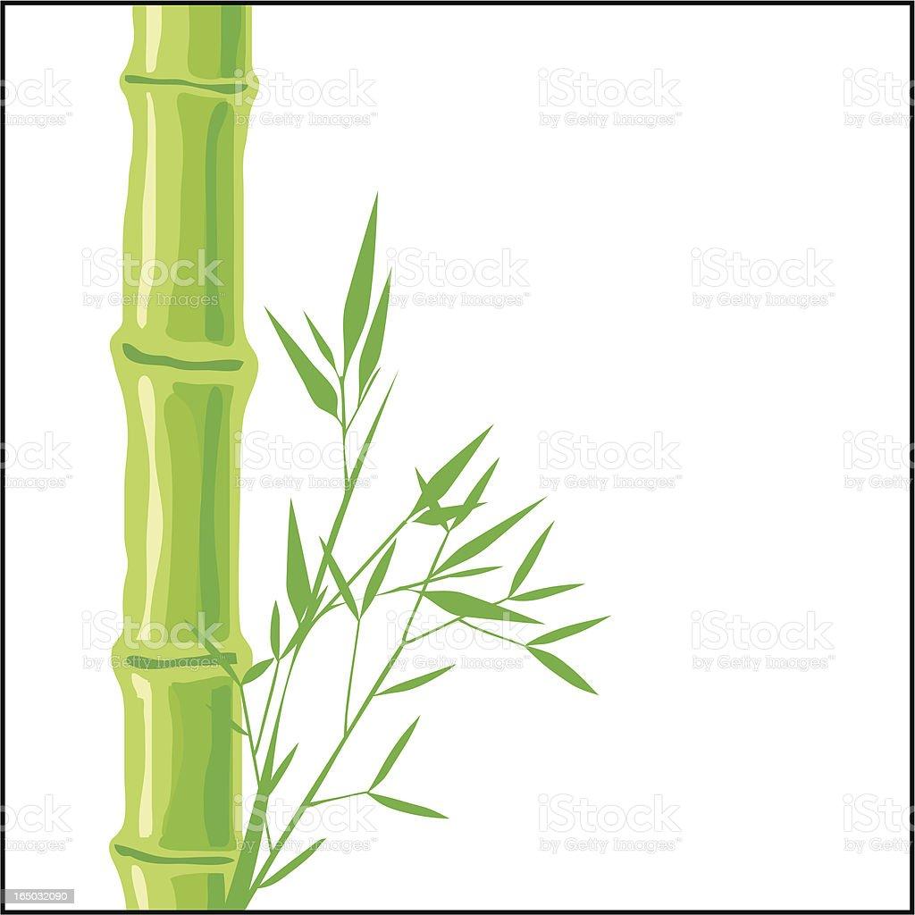 Green Flora vector art illustration