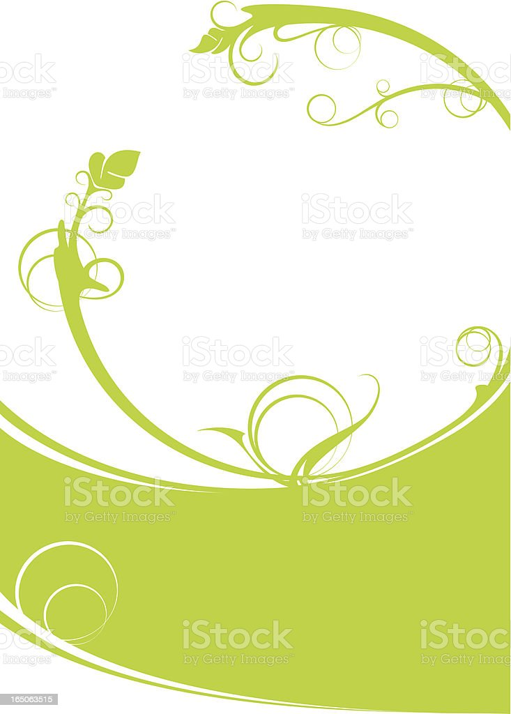 Green floral backdrop royalty-free stock vector art