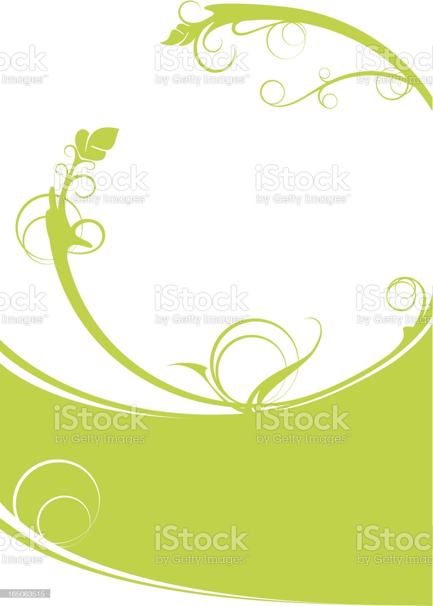 Green floral backdrop royalty-free stock vector art