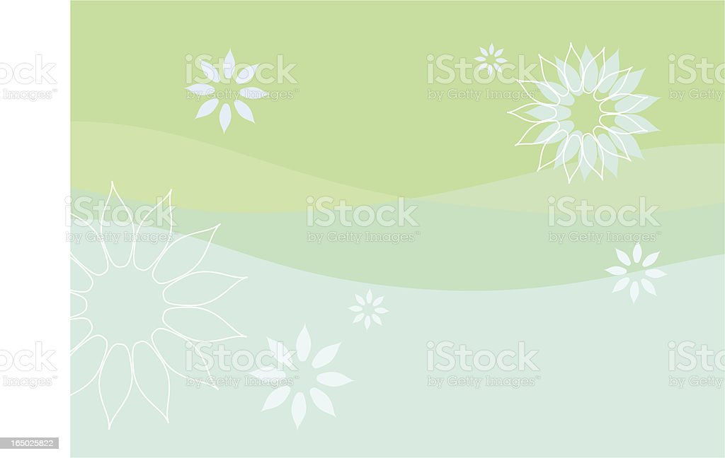 Green Floral background - vector royalty-free stock vector art