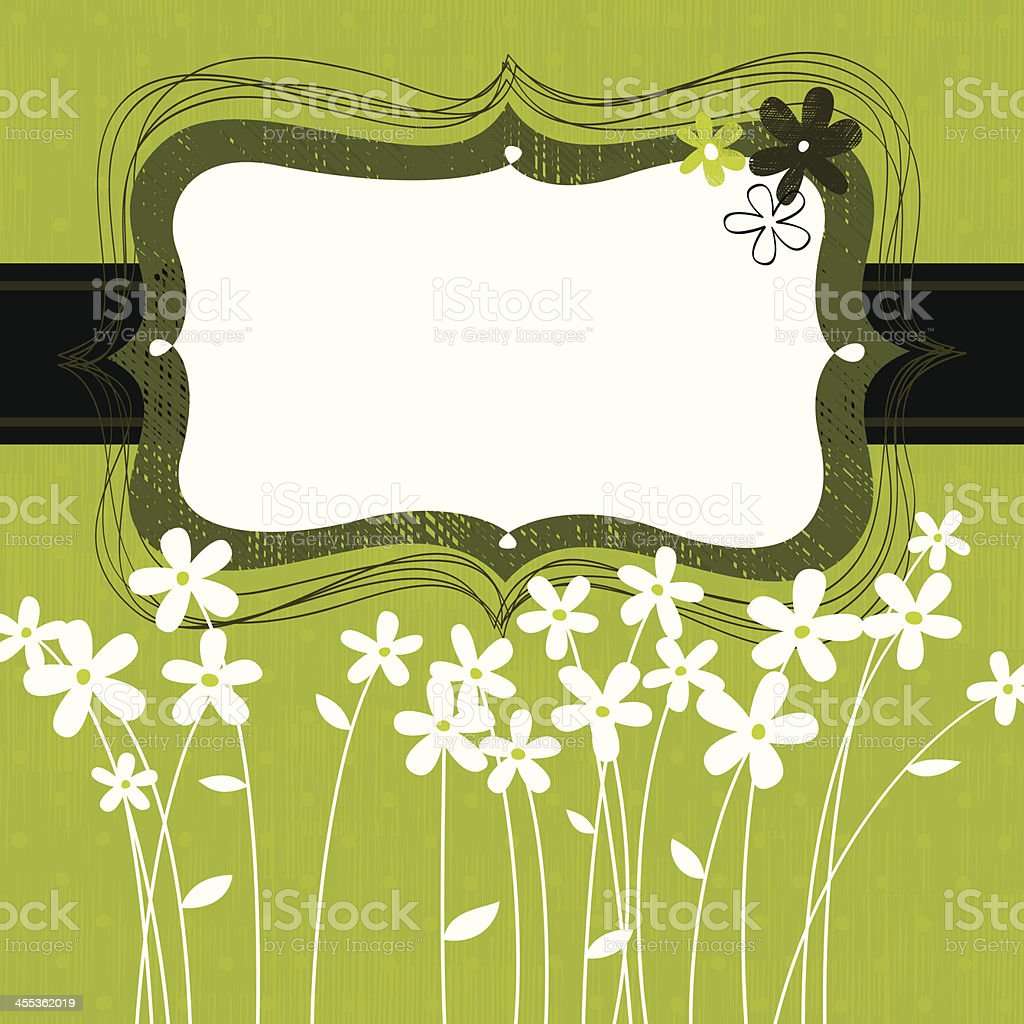 Green floral frame royalty-free stock vector art