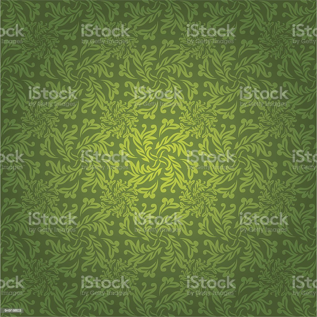 green floral tile royalty-free stock vector art