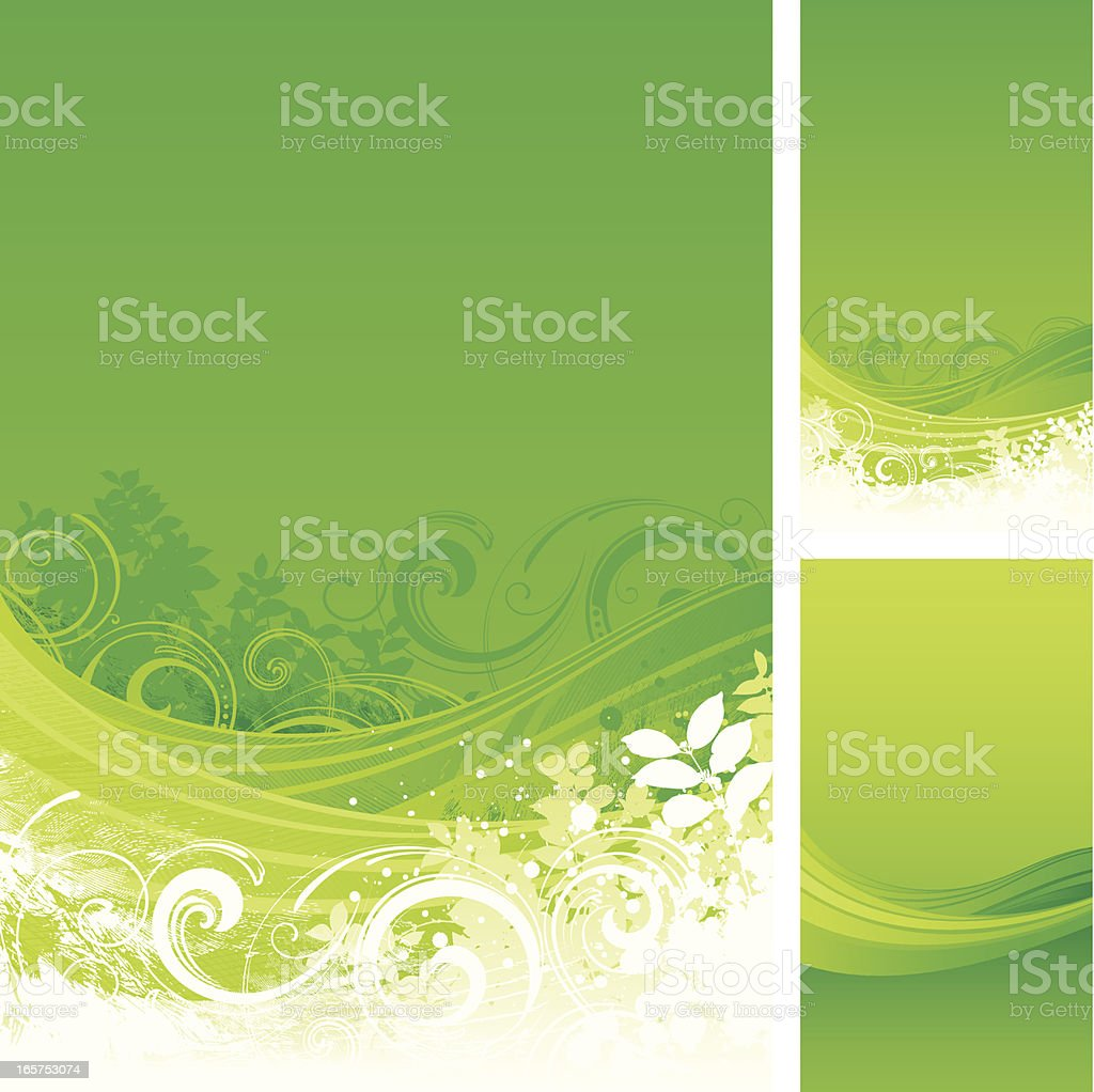 Green flow backgrounds royalty-free stock vector art