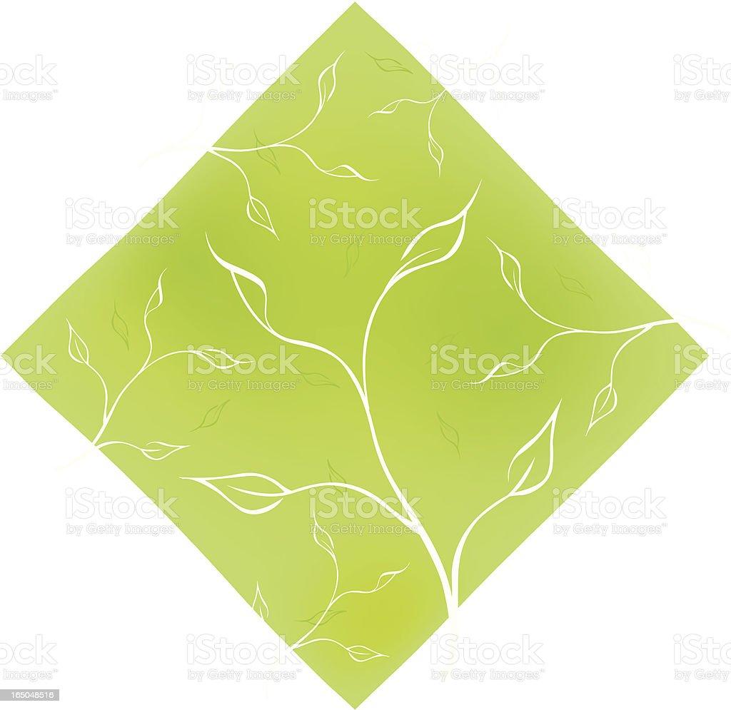 Green flow royalty-free stock vector art