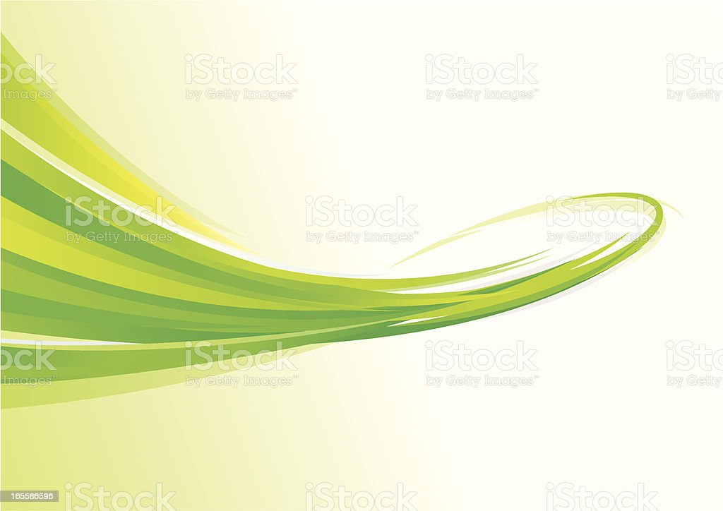 Green Flowing Lines royalty-free stock vector art