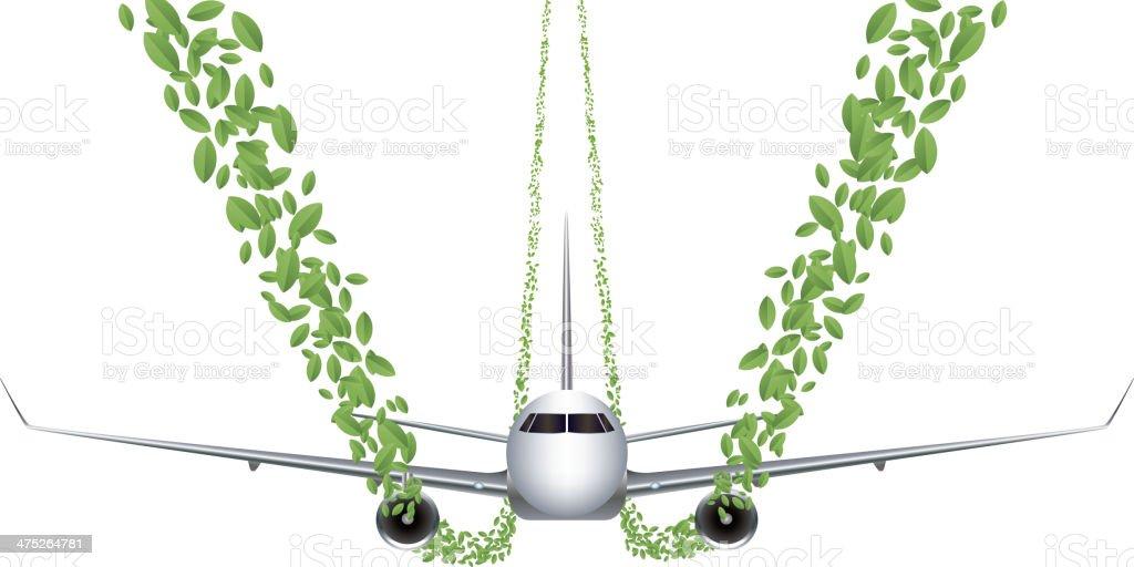Green flying vector art illustration