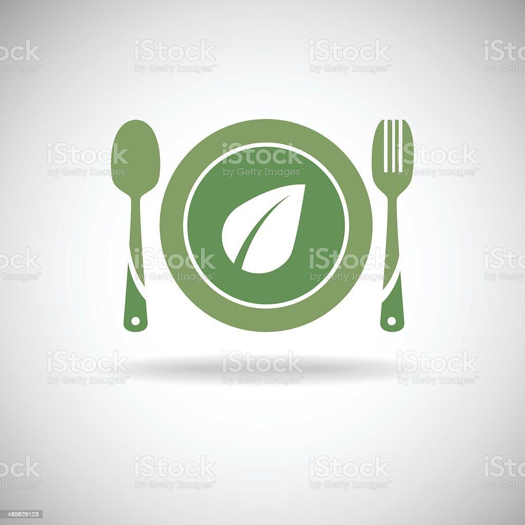 Green food icon vector art illustration