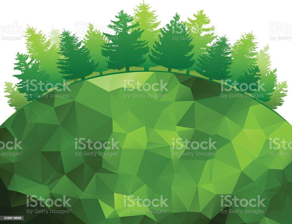 Green Forest vector art illustration