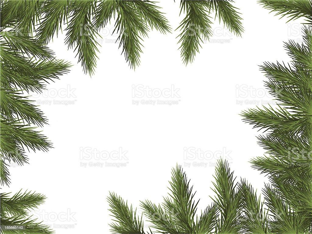 Green Frame vector art illustration