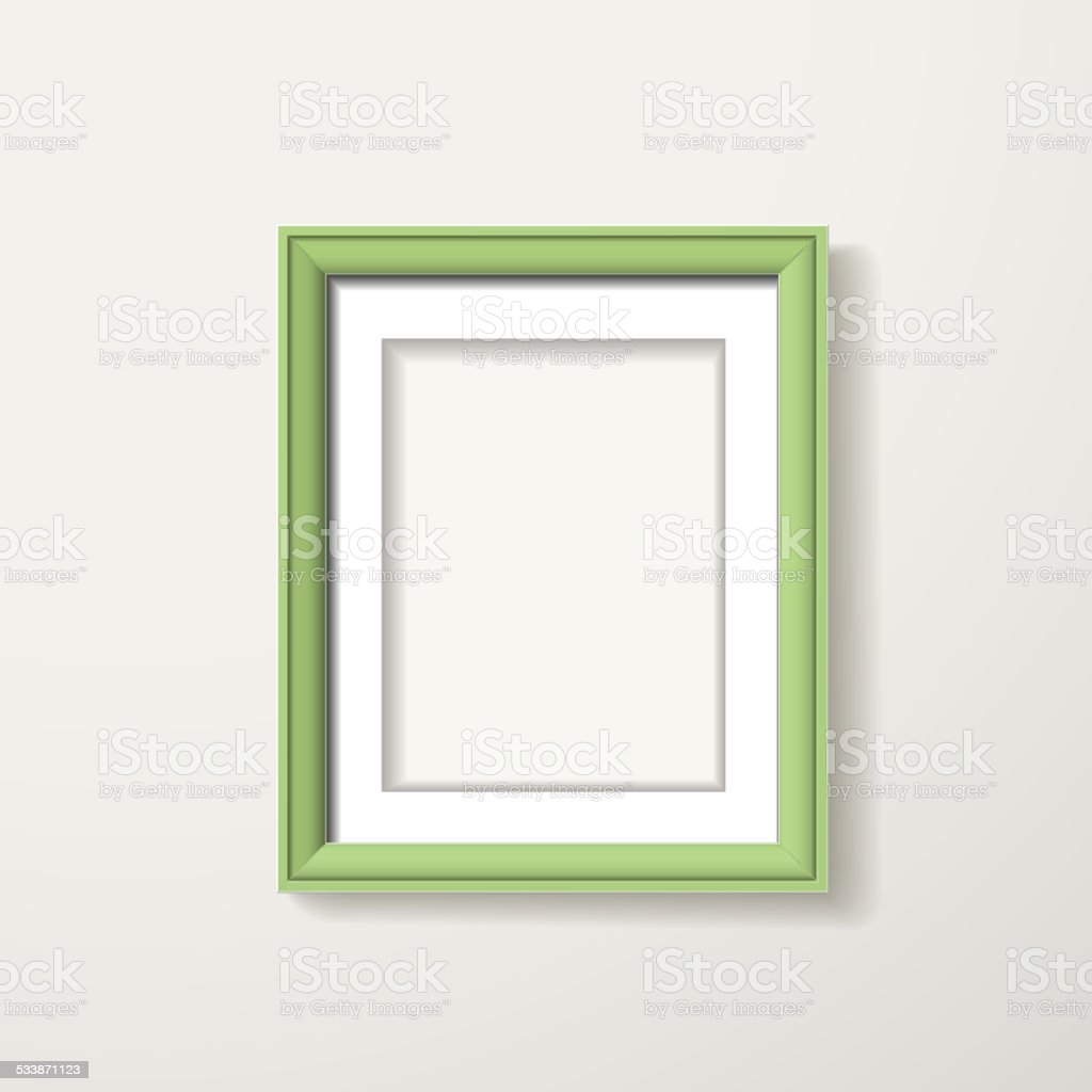 green framework vector art illustration