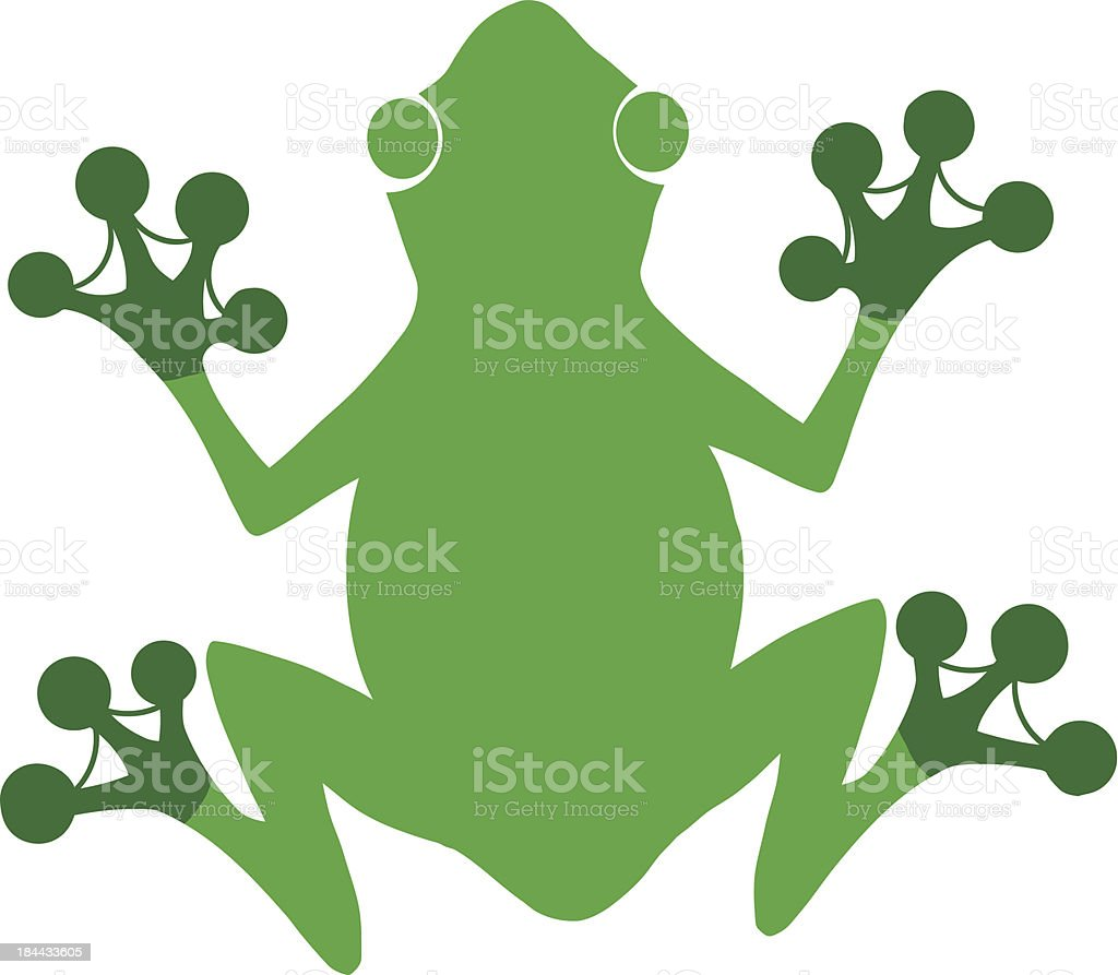 Green Frog Silhouette Logo royalty-free stock vector art