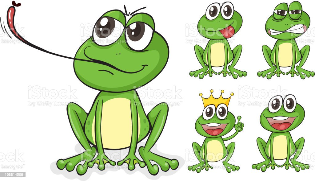 Green frogs royalty-free stock vector art