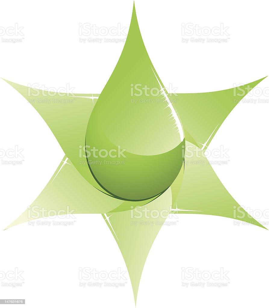 Green Fuel Abstract vector art illustration