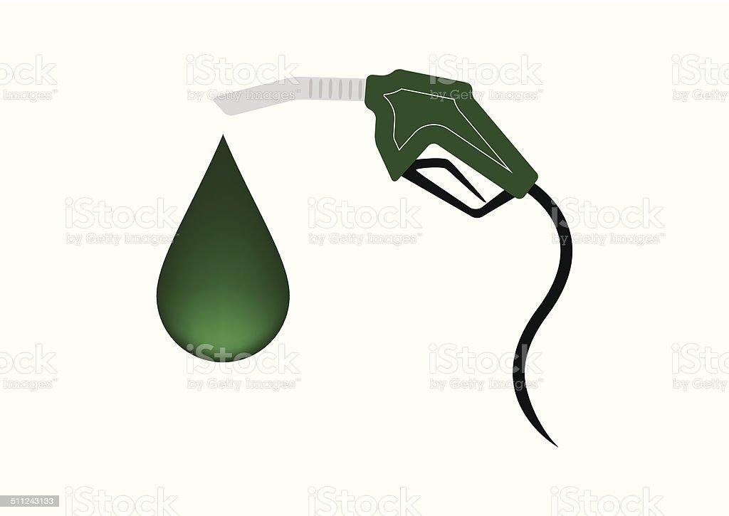 Vert de carburant avec restitution Pompe à essence stock vecteur libres de droits libre de droits