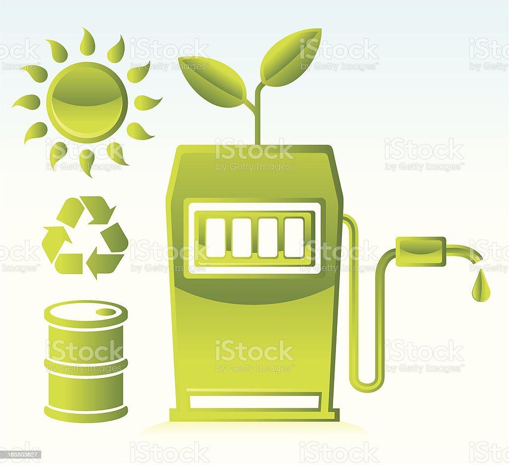 Green Fuel royalty-free stock vector art