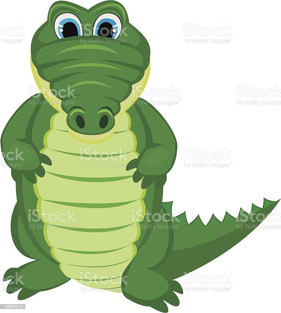 Green funny crocodile royalty-free stock vector art