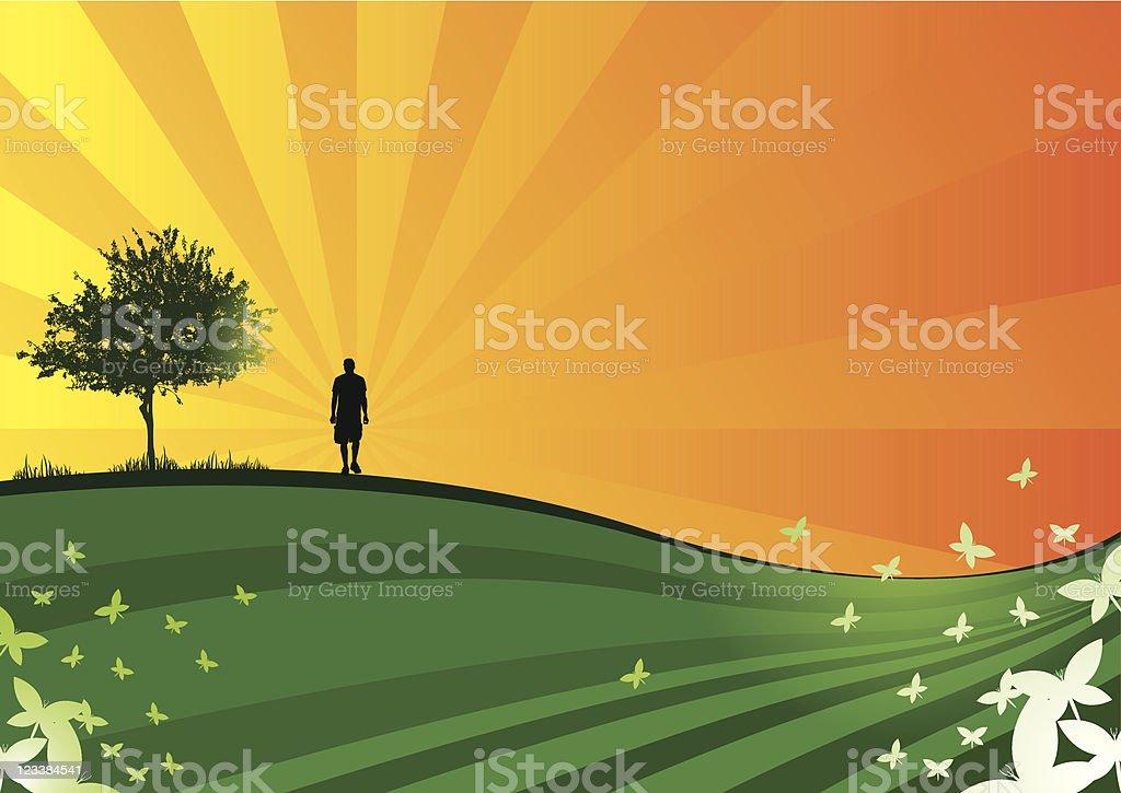 Green garden royalty-free stock vector art