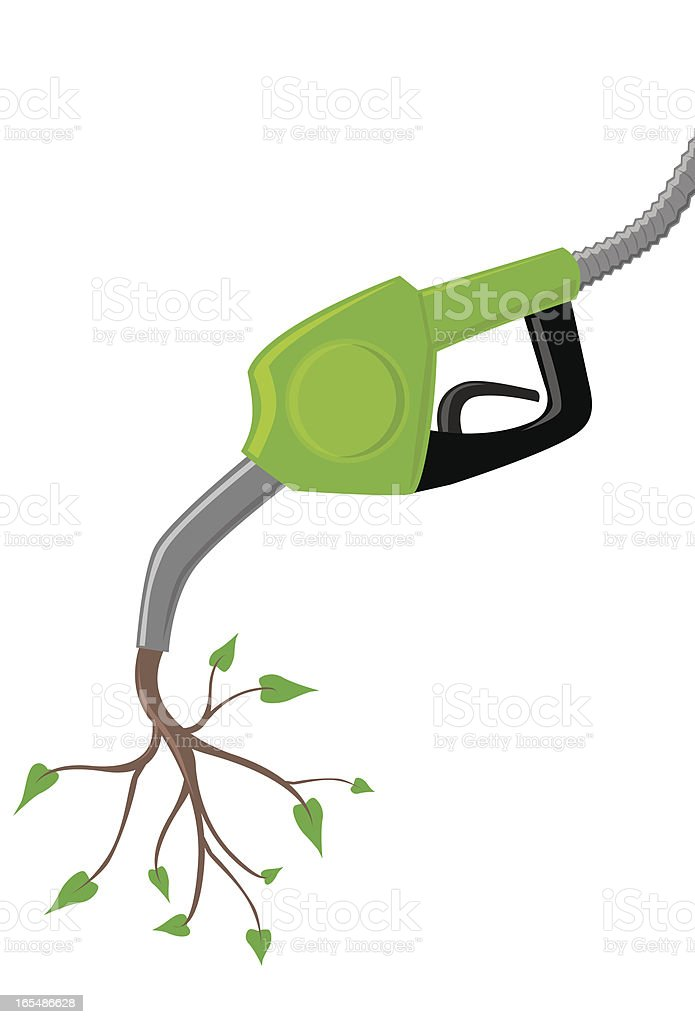 Green Gas Pump royalty-free stock vector art
