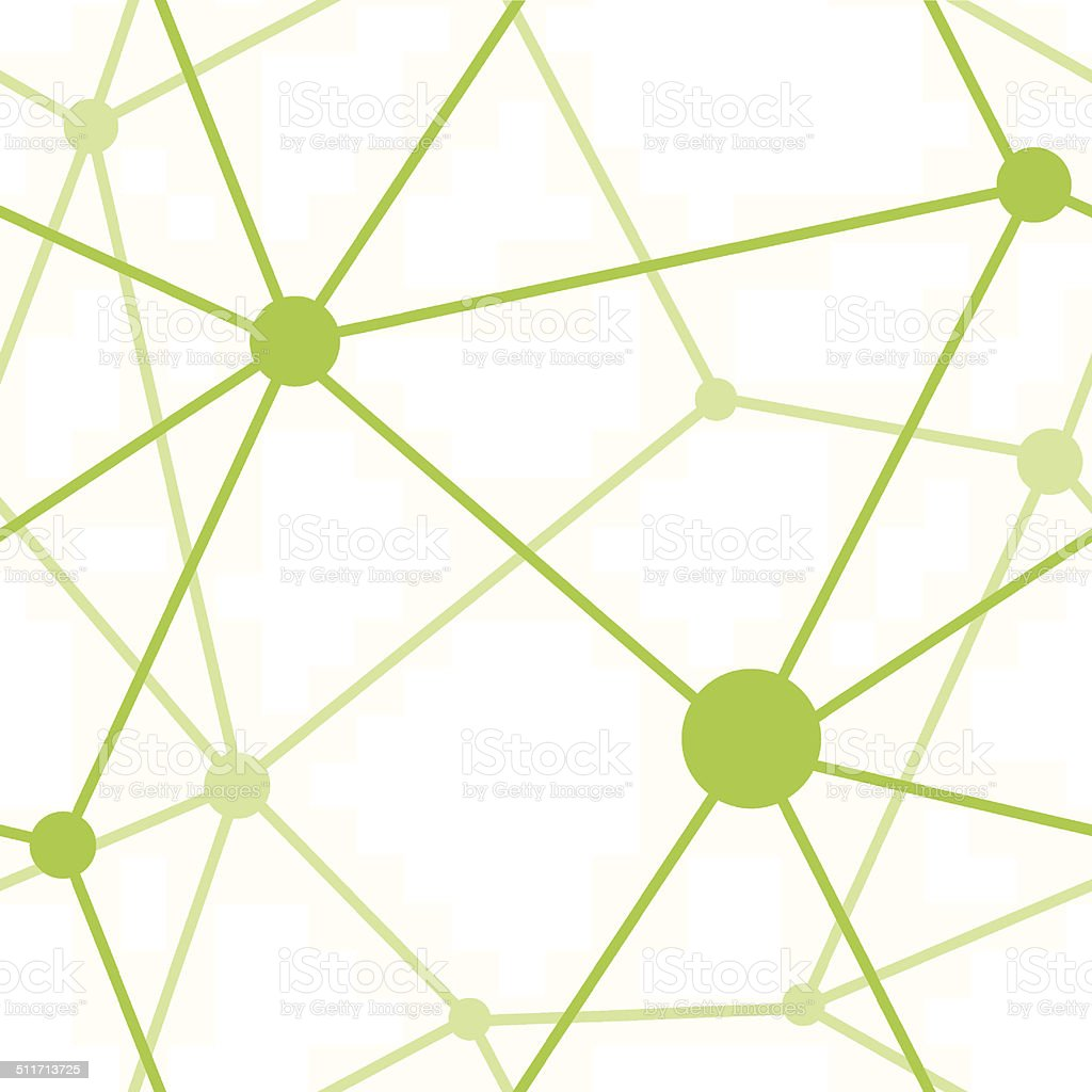 Green geometric network pattern royalty-free stock vector art