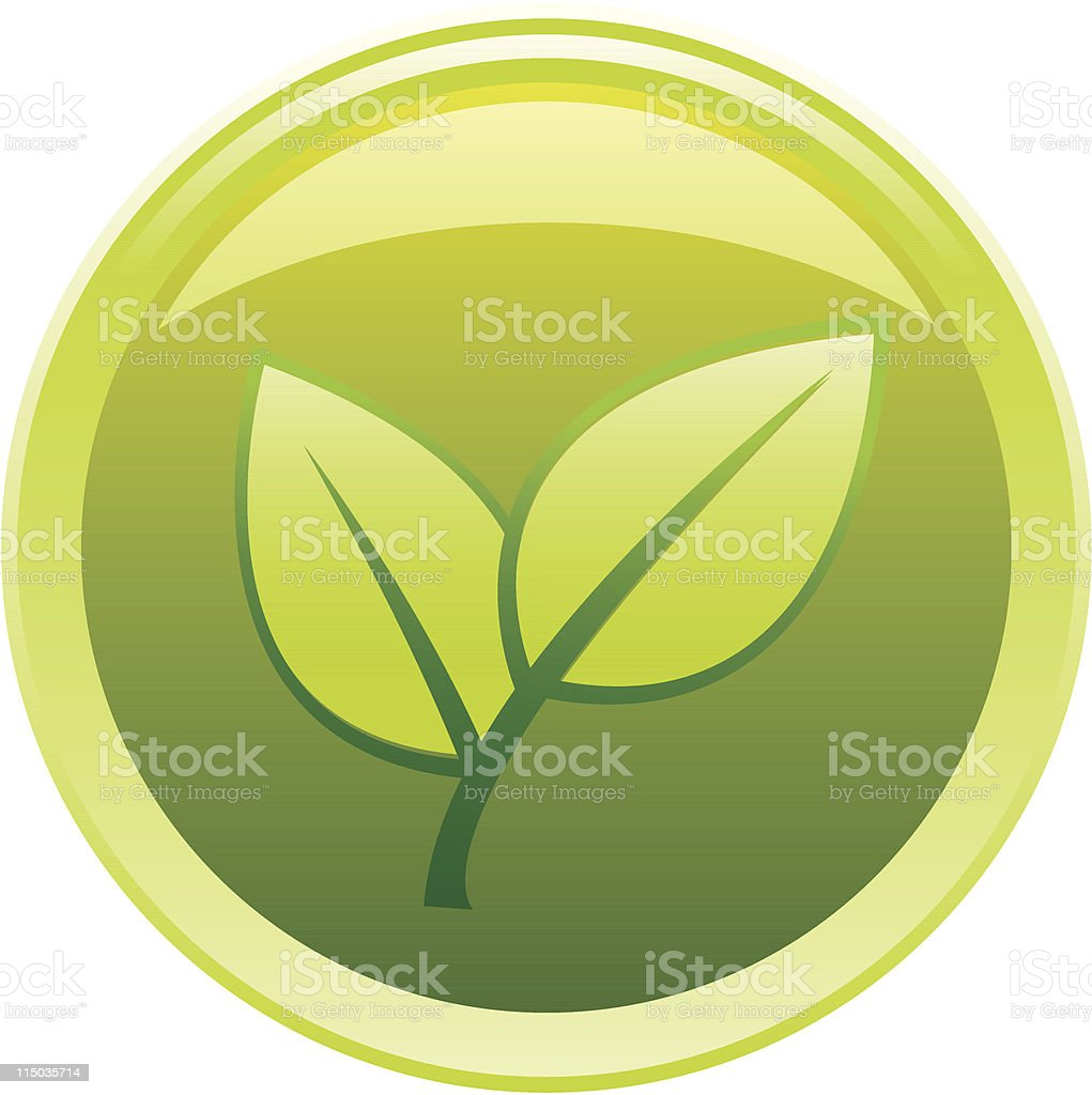 Green glassy button royalty-free stock vector art
