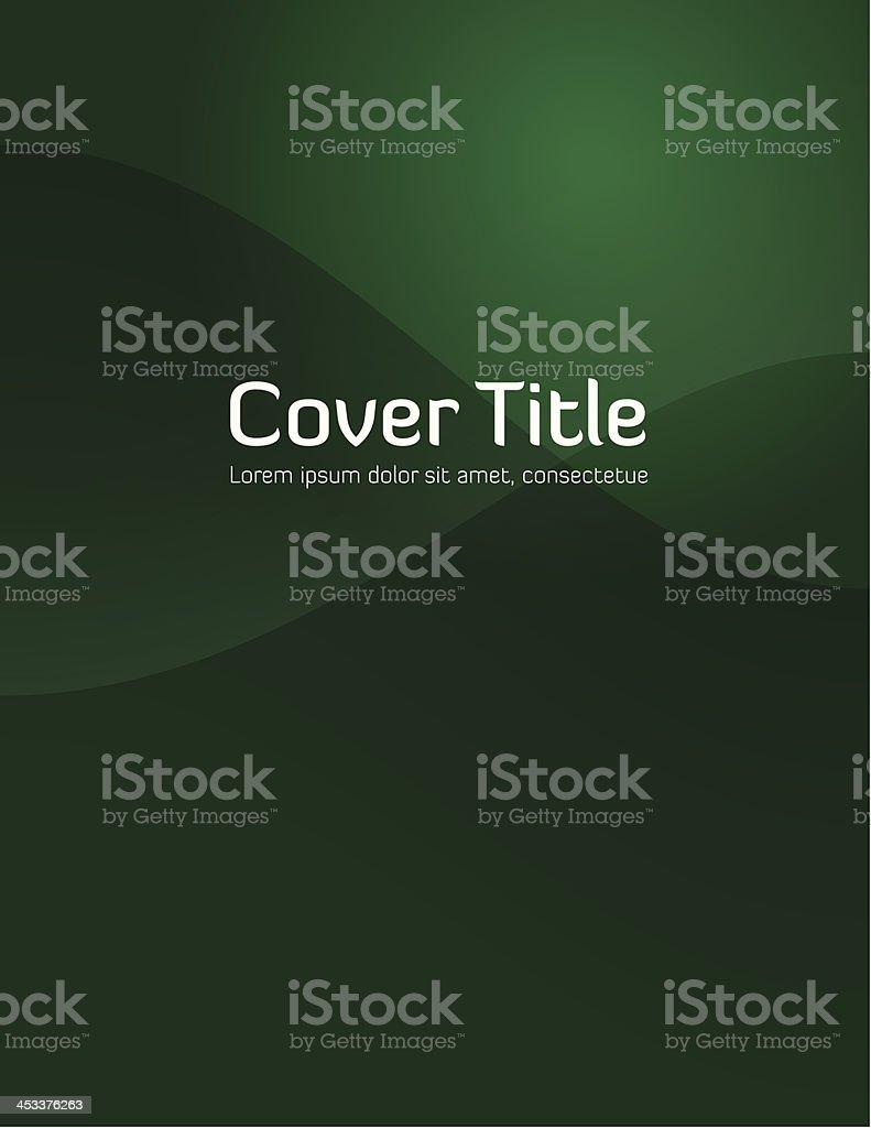 Green Gradient Cover vector art illustration