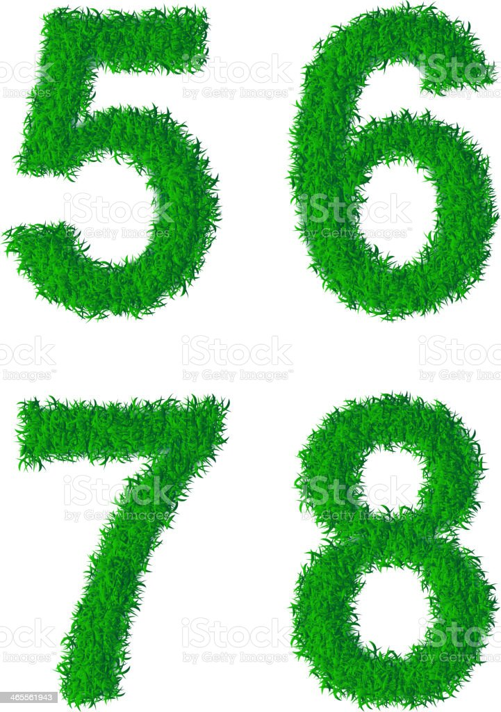 Green grass alphabet royalty-free stock vector art