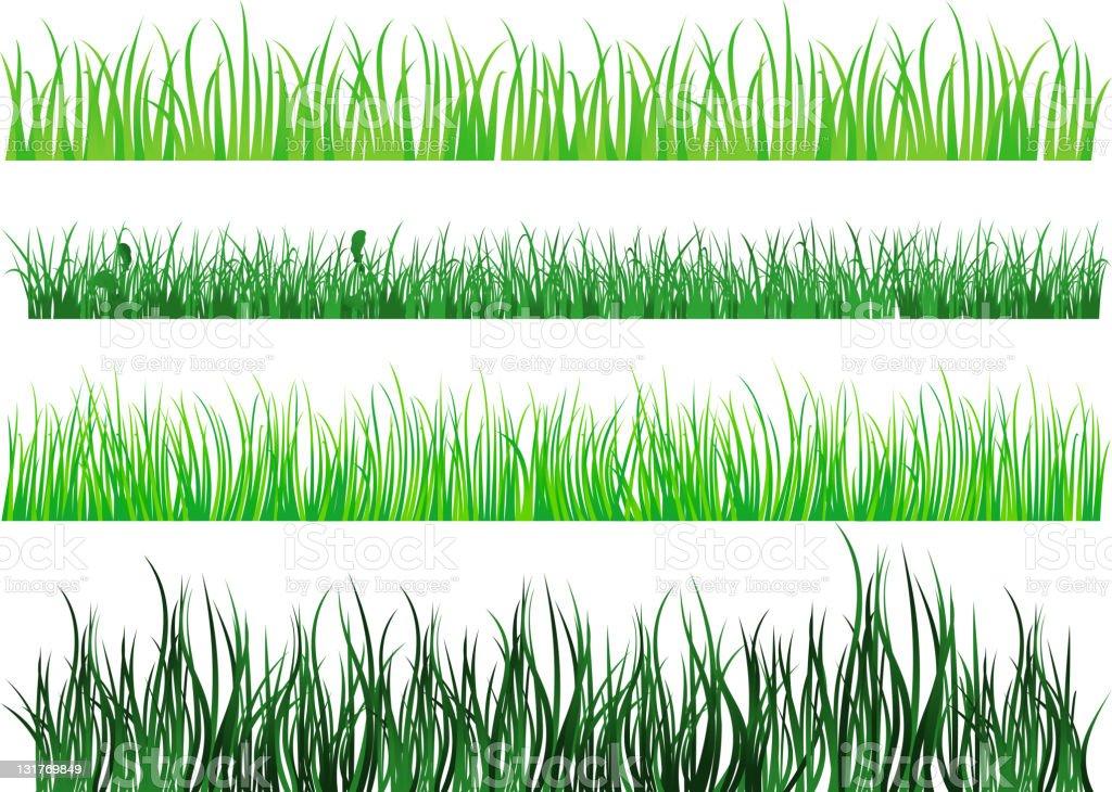 Green grass patterns royalty-free stock vector art