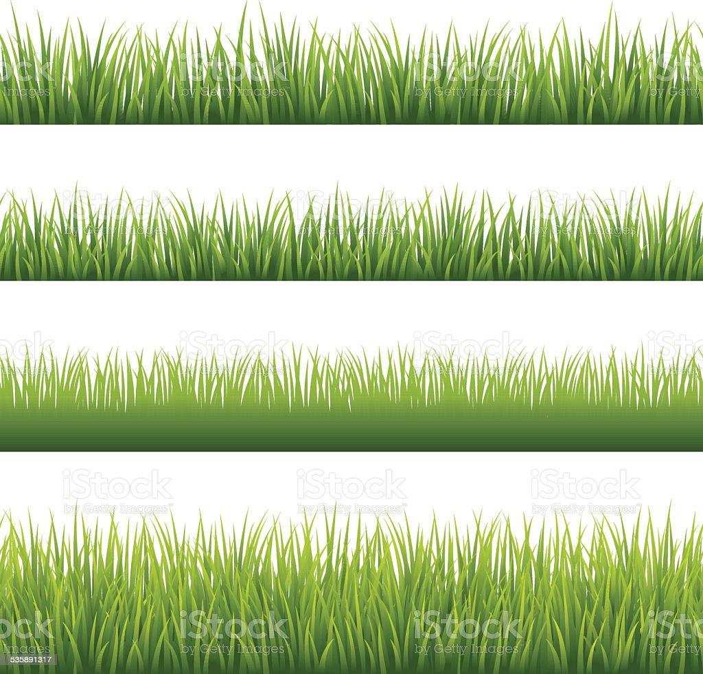 Green Grass - Seamless vector art illustration