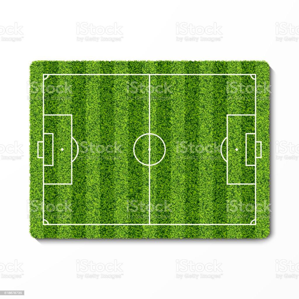Green grass soccer field vector art illustration