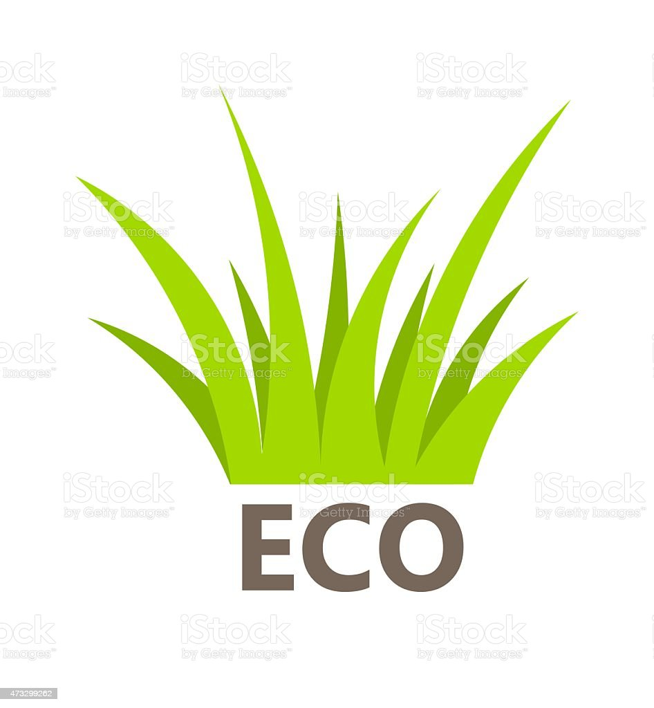 Green grass symbol vector art illustration