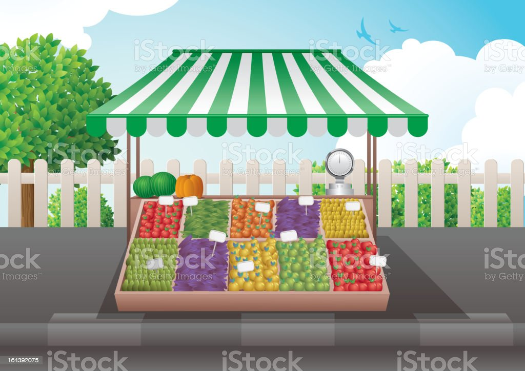 green grocer royalty-free stock vector art