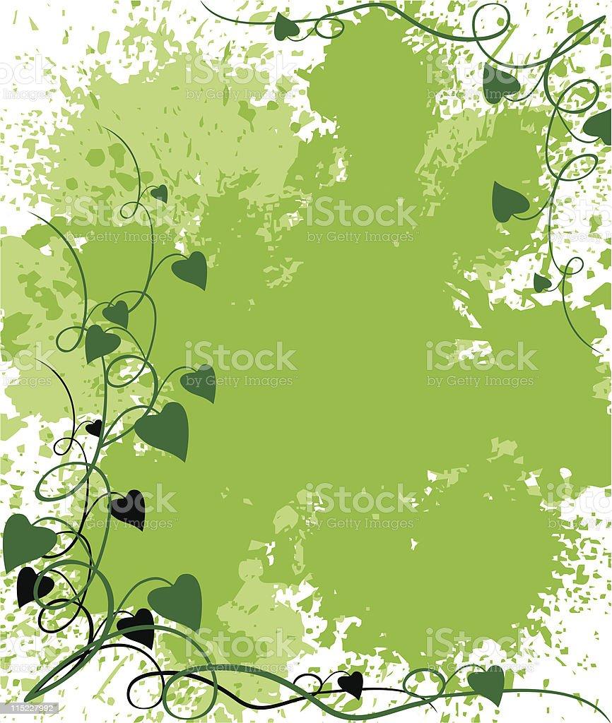 green grunge background vector art illustration