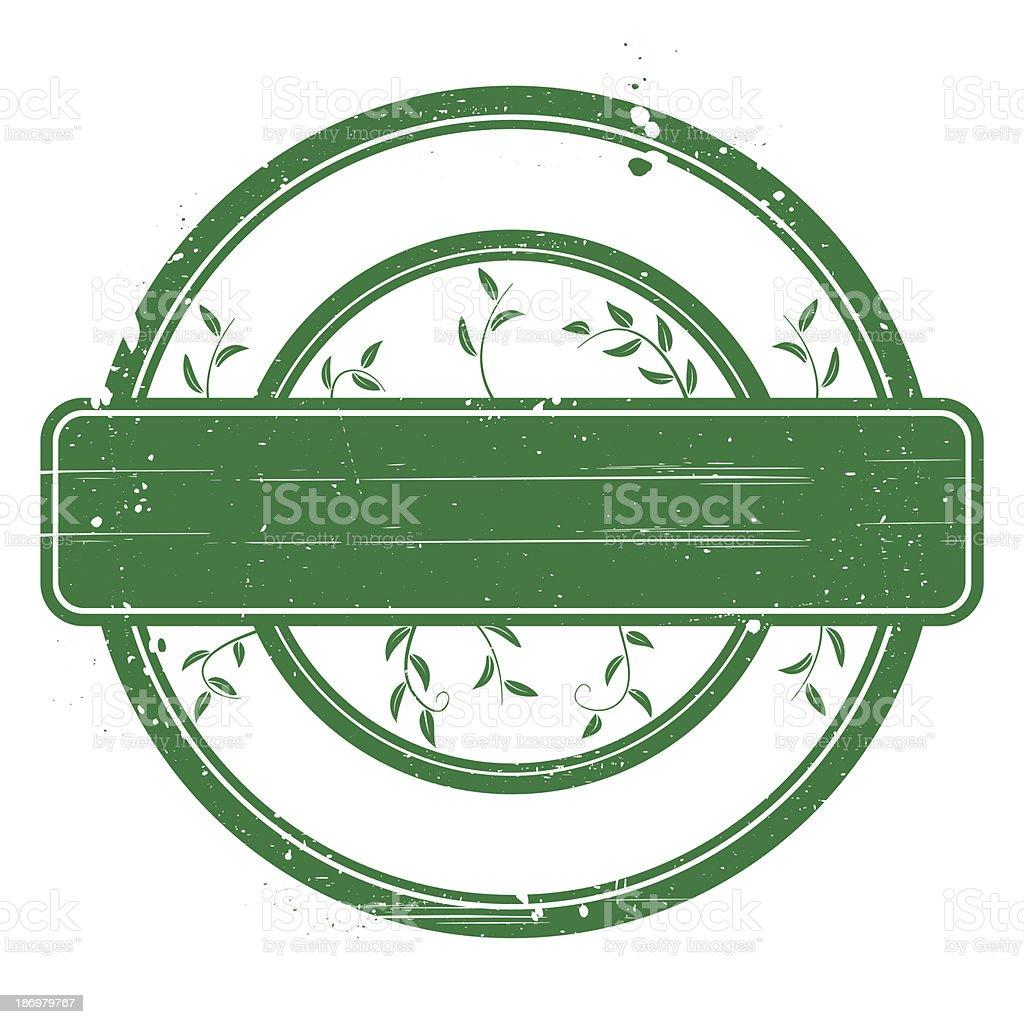 Green grunge stamp on white. royalty-free stock vector art