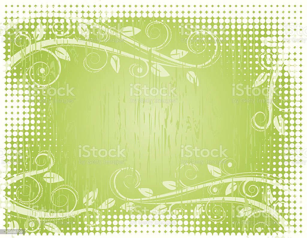Green halftone background royalty-free stock vector art