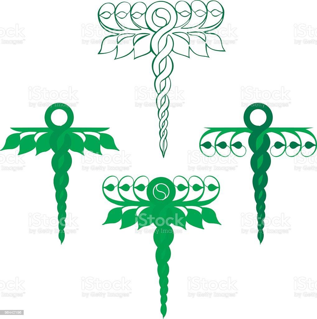 Green Healthcare Caduceus royalty-free stock vector art