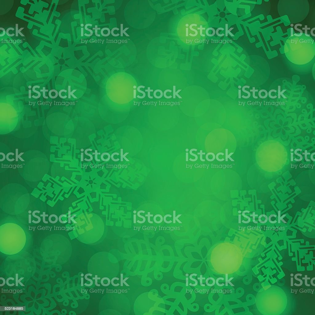 Green Holiday Background Abstract vector art illustration