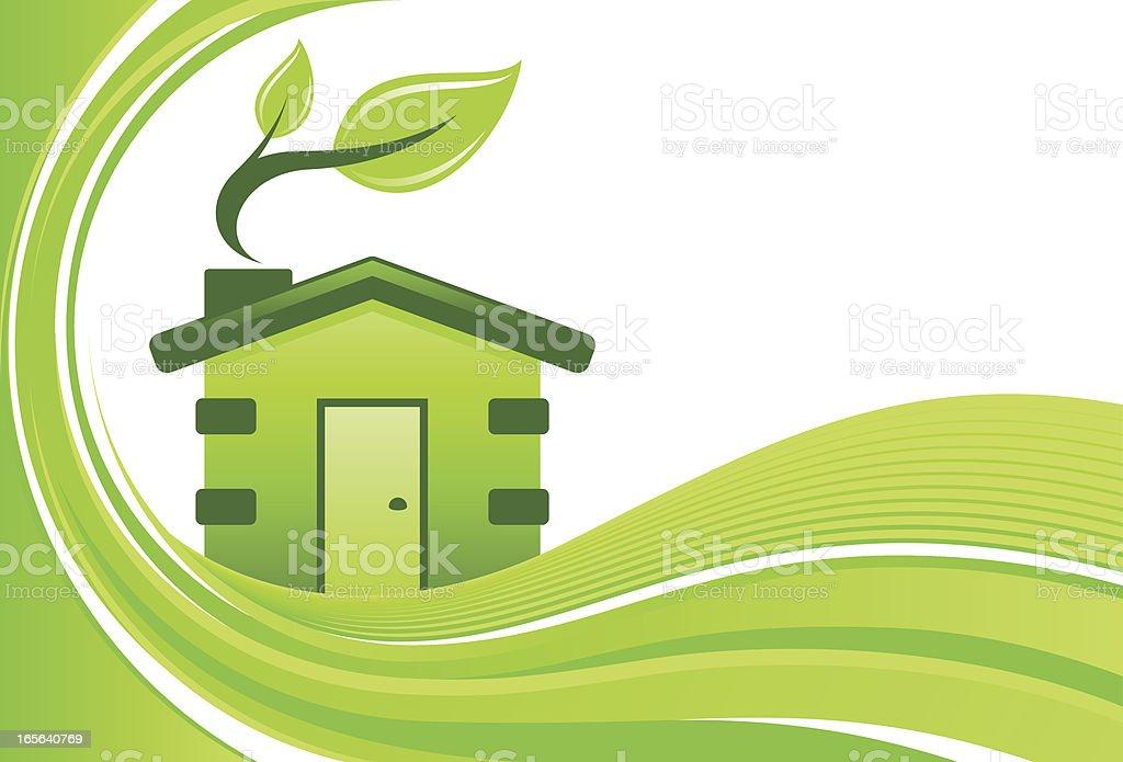 Green home background vector art illustration